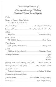 Templates For Church Programs Wedding Ceremony Programs Sample Free Printable Program