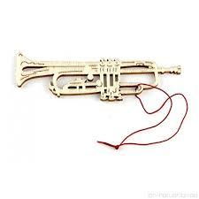Anhänger Trompete Pappelholz Schönes Geschenk Für Musiker