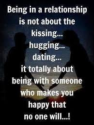 Dating QuotesBeing In Relationship Is Not About Kissing Enchanting Love Dating Quote Images