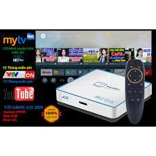 Android TV Box Vinabox A15 kèm Điều khiển giọng nói xem truyền hình miễn  phí 200 kênh Ram 2G/ Rom 16G - Hàng Chính Hãng chính hãng 580,000đ
