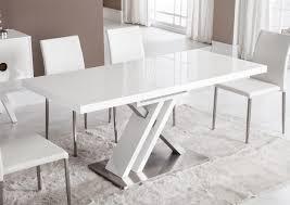 Acheter Votre Table Moderne Pied Central Croix Laqu E Blanche Chez