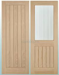 lpd oak belize solid panel and glazed doors