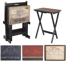 Decorative Tv Tray Tables Tuscan Wine TV Trays Tv Tray Tables Home Theater Furniture 1