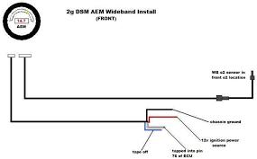 1g 2g aem uego wiring dsmtuners 4 Wire O2 Sensor Wiring Diagram 2g wb (front) install jpg 4 wire o2 sensor wiring diagram volvo