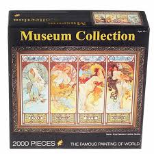 2000 pcs set mucha four seasons museum collection the famous painting of world high quality