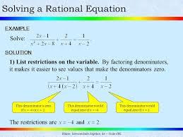solving a rational equation