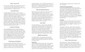 Personal Statement Examples For Resume Mission | Askoverflow