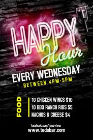 Happy Hour Flyer Customize 8 370 Bar Templates Postermywall
