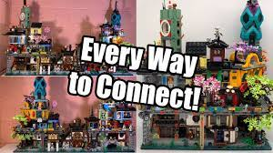 Every way to connect LEGO 71741 NINJAGO City Gardens with the other  expansions