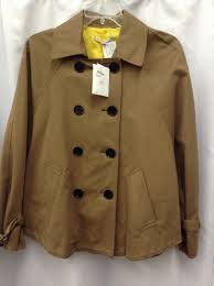gap womens pea coat size medium brown coat