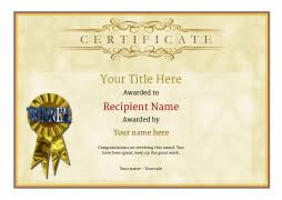 certificate of recognition templates free certificate templates simple to use add printable badges medals