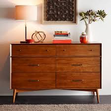 Midcentury modern dressers Harmony House West Elm Midcentury 6drawer Dresser Acorn West Elm