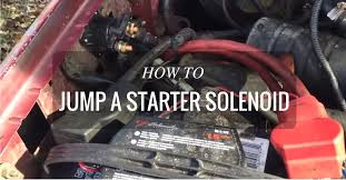 how to jump a bad starter solenoid