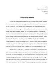 a perfect day for bananafish documents course hero bananafish essay