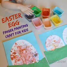 easter egg finger painting craft for toddlers and kids kenarry com
