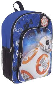 Bb8 Light Up Backpack Star Wars Backpack For Kids Boys Featuring Bb8 Star Wars School Supplies