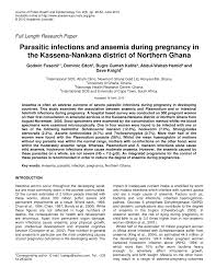 parasitic infections and anaemia during