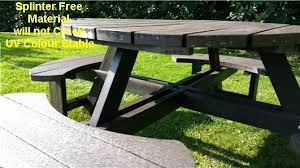 8 seat round picnic table recycled plastic 8 seat round picnic table 8 seat picnic table 8 seat round picnic table