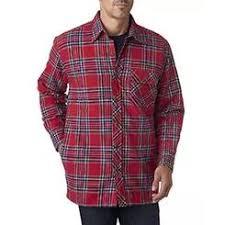 Covington Quilt Lined Flannel Shirt Jackets & Backpacker Men's Flannel Shirt Jacket with Quilt Lining - BP7002 Adamdwight.com