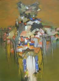 map of india painting by artist sunil bambal acrylic canvas