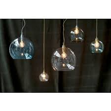 rowan clear glass ceiling pendant light silver cable small