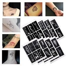 1 лист 6 карт блестящая татуировка рисунок для распылитель для