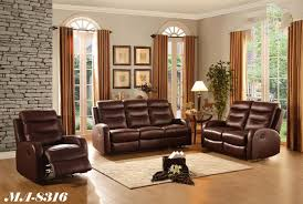 brown leather living room furniture. Reclining Leather Living Room Sets Montreal Brown Furniture A