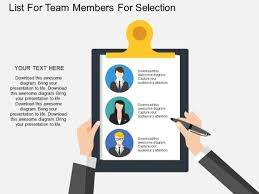 Membership List Template List For Team Members For Selection Powerpoint Template Powerpoint