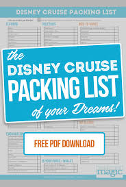 Cruise Packing List Disney Cruise Packing List February 2019 What To Pack Not To Pack