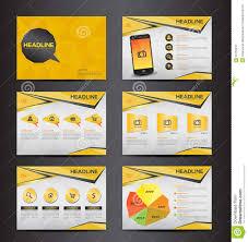 yellow multipurpose presentation infographic element and light yellow multipurpose presentation infographic element and light bulb symbol icon template flat design set for advertising