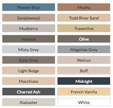 Ardex Epoxy Grout Colour Chart
