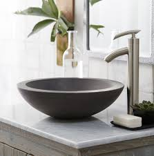 Letu0027s Have A Better Bathroom With Sink Bowls Vanity   Extraordinary Small Decoration Using Single Brushed Stainless Steel  Sink Bowls On Top Of Vanity O52