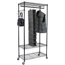 Rolling Coat Rack With Shelf Amazon Oceanstar Garment Rack with Adjustable Shelves with 46