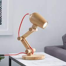 Đèn để bàn bằng gỗ dùng đọc sách, phòng ngủ, bàn học sinh viên học sinh  phong cách Bắc Âu VG09 - Đèn bàn Thương hiệu OEM
