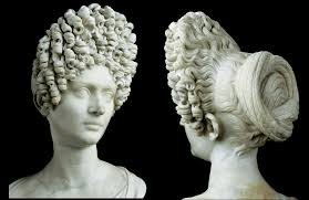 Ancient Roman Hair Style a bust of an aristocratic flavian woman showing a hairstyle that 4911 by wearticles.com