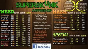 greenhouse coffeeshop menu