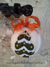 Palline natalizie decorate in feltro la piccola bottega creativa