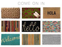 modern doormat  warm welcome  modern calligraphy personalized