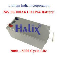 Halix LiFePo4 <b>24V 60AH LiFePO4 Battery</b>, Battery Capacity: 60 Ah ...