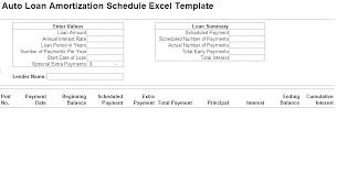 Car Loan Amortization Schedule Excel Free Calculator Template
