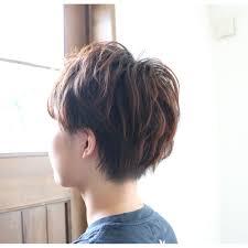 ボーイッシュショートパーマ Atelier Ricoアトリエ リコのヘア