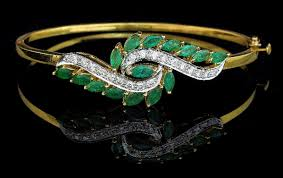 emerald diamond bangle dels indian jewellery in edison nj