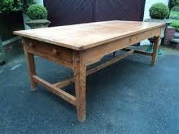 7ft dining table: large antqie pine farmhouse dining table kitchen table ft long