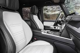 benz g wagon inside. rear passenger space \u2013 an area that was criticised in the current g-class is said to have increased by 150mm, with approximately 40mm of being freed benz g wagon inside e