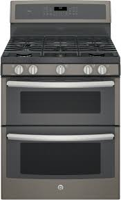 double oven gas range with griddle. Fine Double GE Profile PGB960EEJES  Series Freestanding Gas Double Oven  Range With 5 Sealed Burners  With Griddle