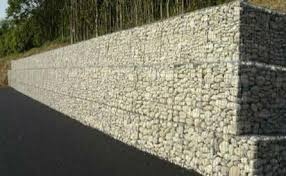 Small Picture Stone gabion baskets limestone walls Garden landscaping lime stone