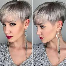 grey short hairstyles and haircuts 2017 for women