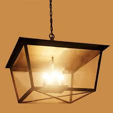 pilen square iron art and clear glass shade chandelier 9986