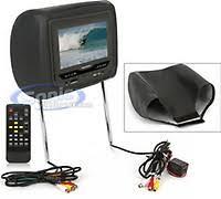audiovox avxmtghr1d 7 headrest monitor w built in dvd player power acoustik hdvd 73grdk dark gray power acoustik