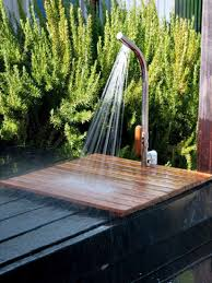 Outdoor Shower Simple Outdoor Showers Hgtv